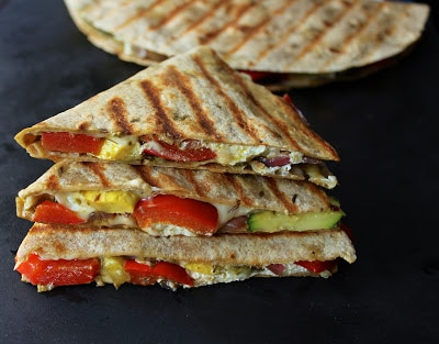 Grilled-vegetable-quesadillas-with-goat-cheese-and-pesto-2