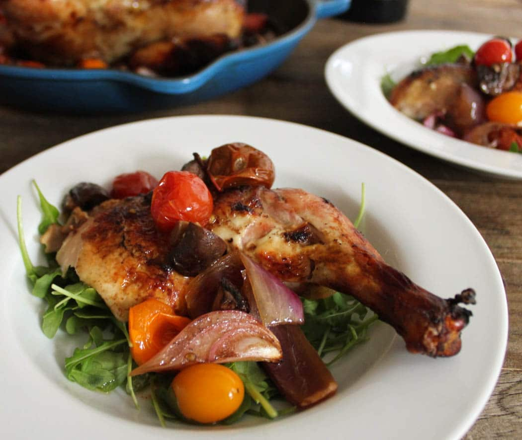 Balsamic-Roast-Chicken-With-Tomatoes-and-Mushrooms-2