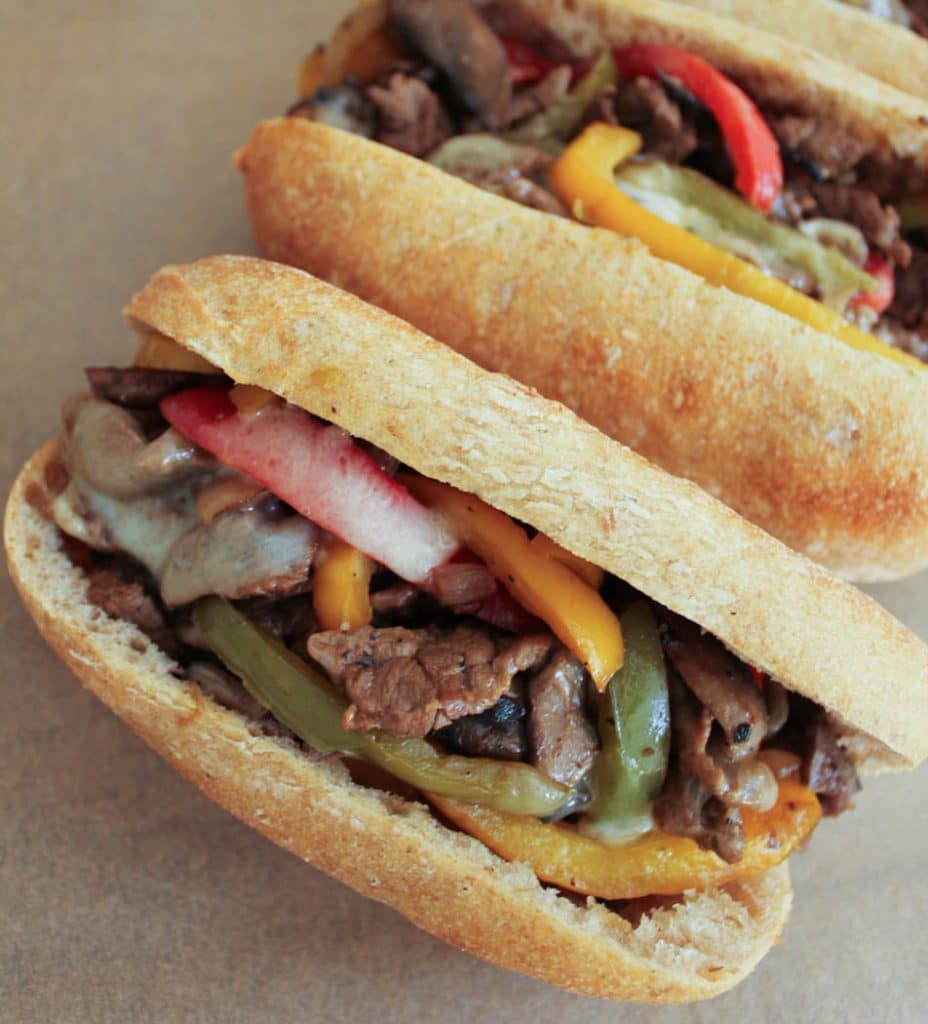 Dude Diet Philly Cheesesteaks