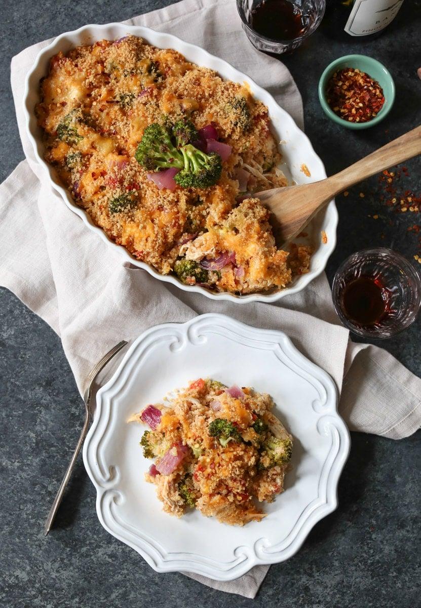 Roasted-Broccoli-Chicken-Cheddar-Quinoa-Bake-5