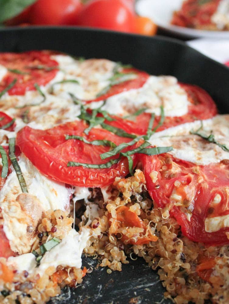 Caprese-Quinoa-Bake-With-Basil-and-Balsamic-Reduction-7