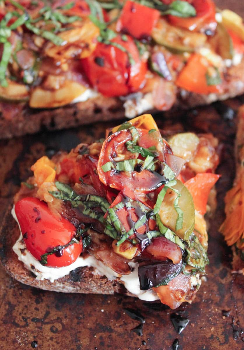 Ratatouille-Tartines-with-burrata-and-honey-balsamic-drizzle-12