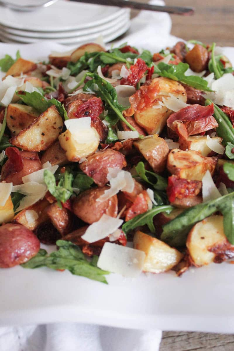 warm-roasted-potato-salad-with-pancetta-sun-dried-tomatoes-and-arugula-3