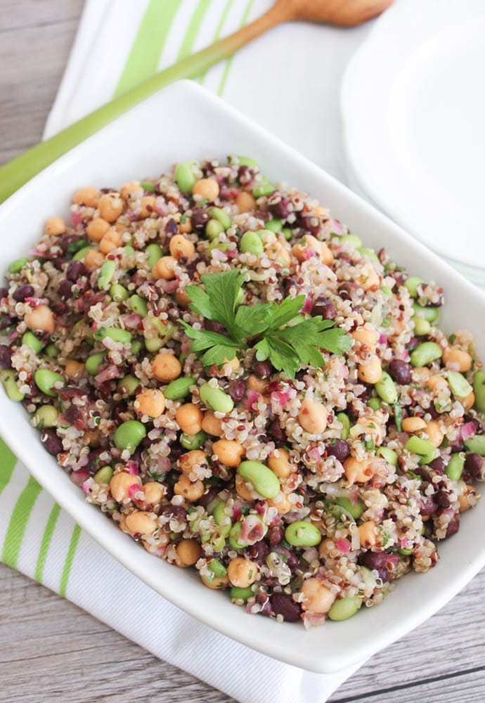 Vegan-Three-Bean-Quinoa-Salad