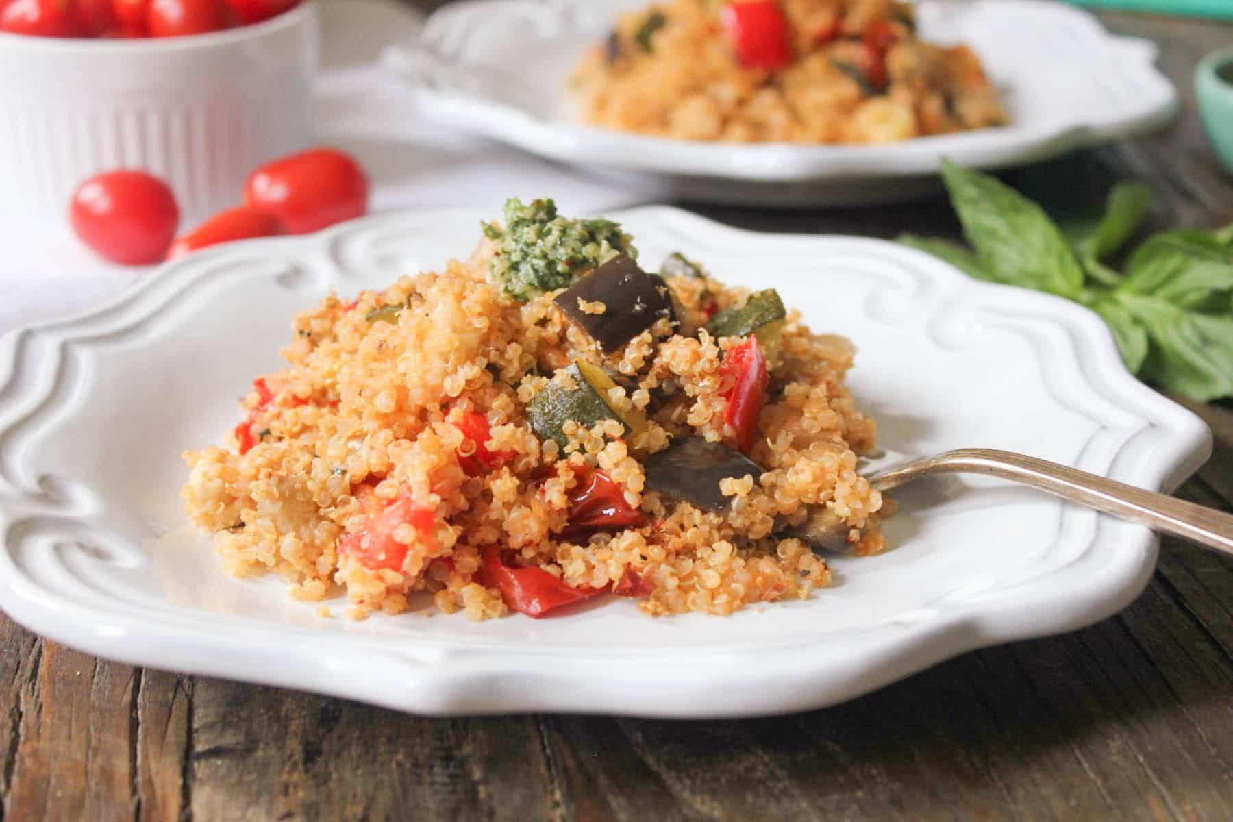 Ratatouille-Quinoa-Bake-with-Pesto-and-Mozzarella-9