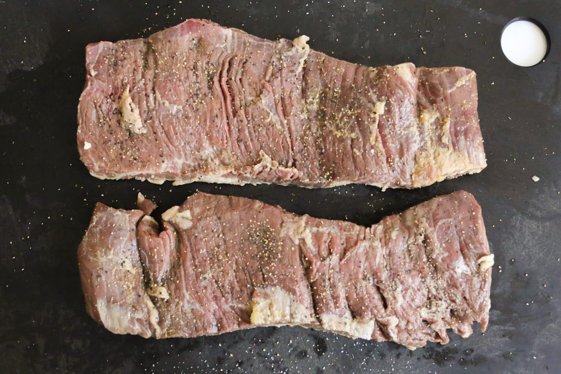 Marinated-Skirt-Steak-with-Corn-and-Sweet-Cherry-Salad-step-5