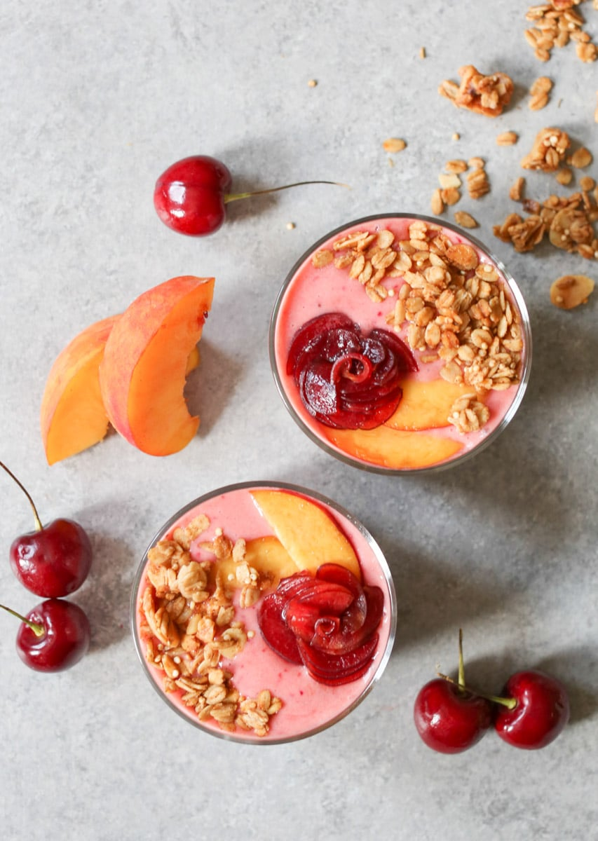 Peach-Cherry-Smoothie-and-Chia-Pudding-Parfaits-4