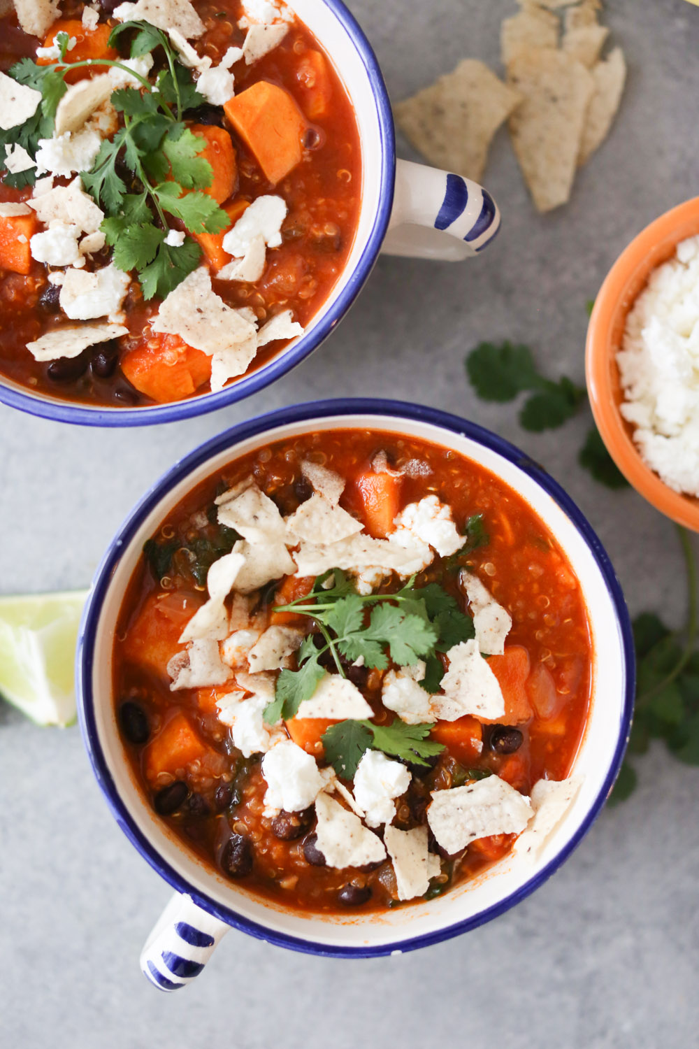 Mexican Sweet Potato and Black Bean Stew