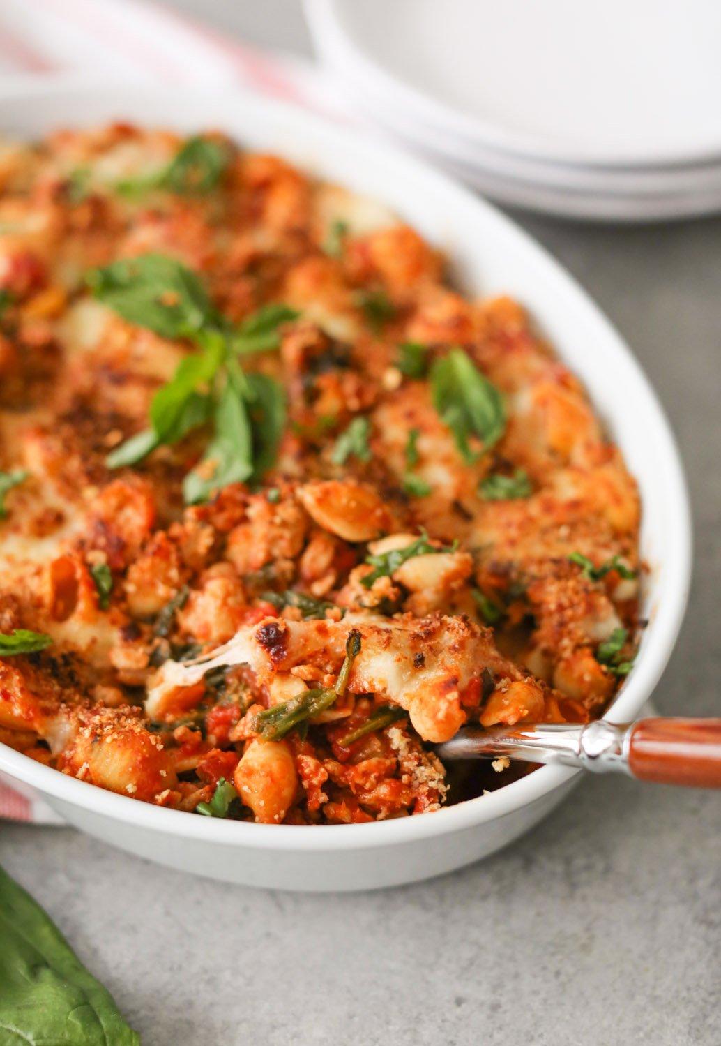 Healthy Chicken Parmesan Pasta