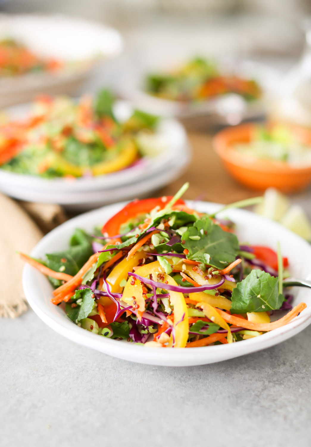 Thai Cashew Chopped Salad with Sesame-Garlic Dressing
