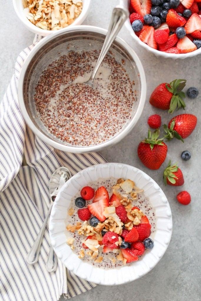 coco-berry quinoa breakfast bowls