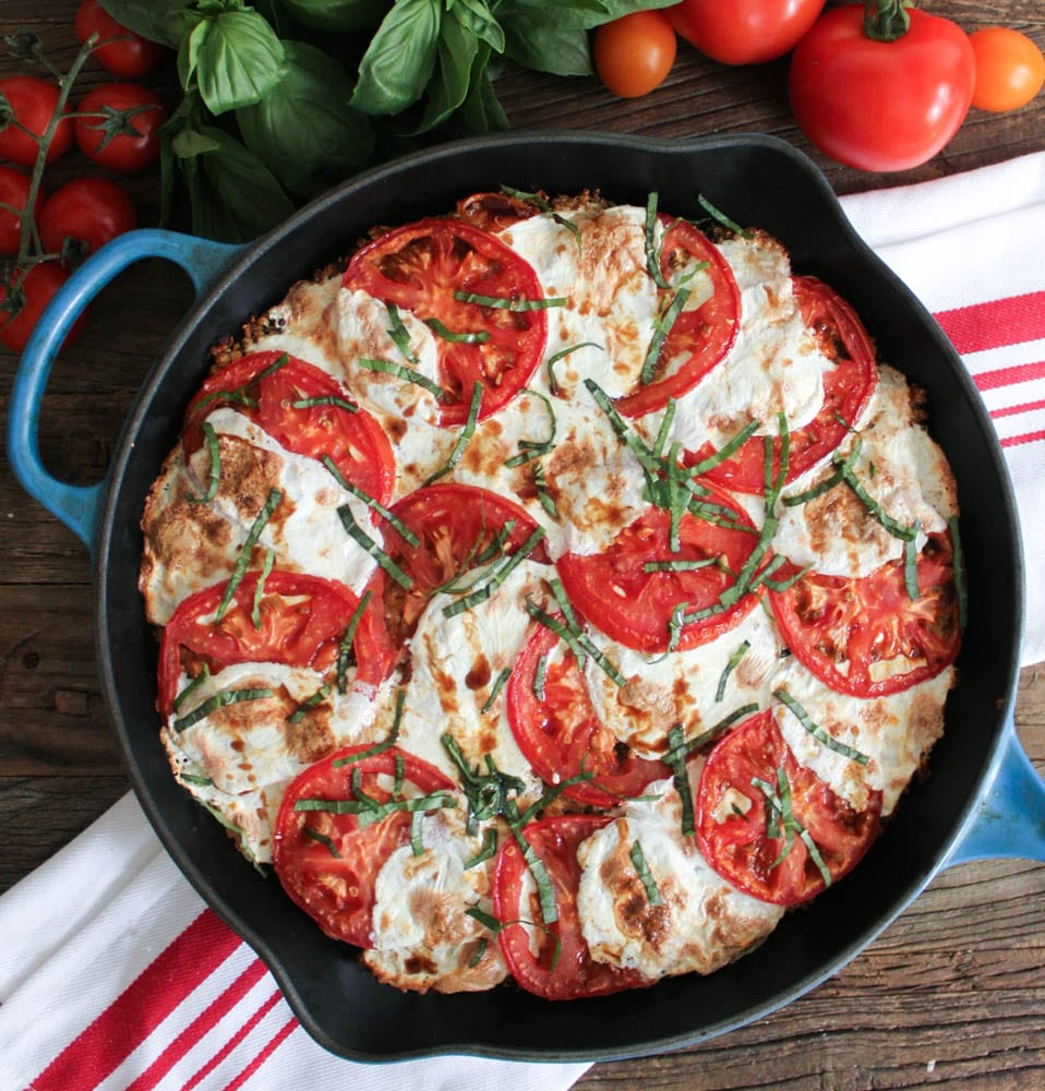 20 Satisfying Vegetarian Recipes- Caprese Quinoa Bake
